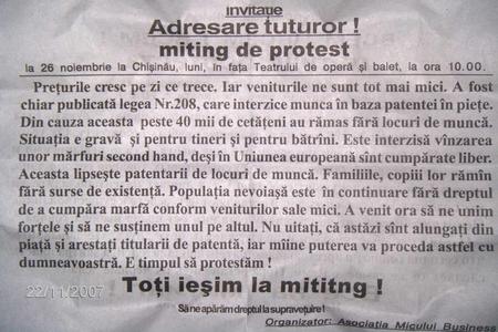 invitatie protest