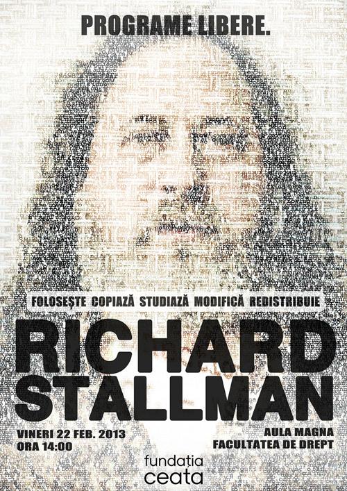 Richard Stallman la lansarea Fundației Ceata