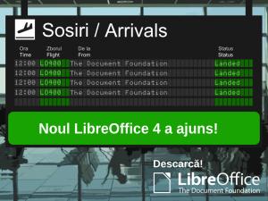 A sosit LibreOffice 4.0